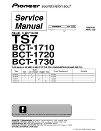 Service Manual Pioneer BCT-1720