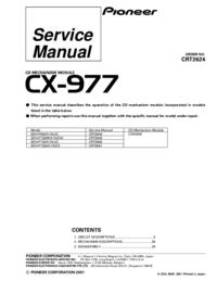 Instrukcja serwisowa Pioneer CX-977
