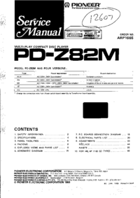 Service Manual Pioneer PD-Z82M SD