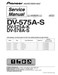 Service Manual Pioneer DV-575A-S