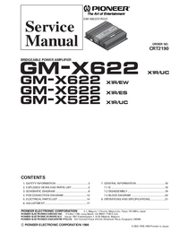 Service Manual Pioneer GM-X622 X1R/UC