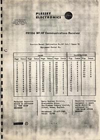Manual de serviço Plessey PR155G