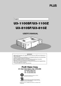 Manual do Usuário PlusVision U3-810SF