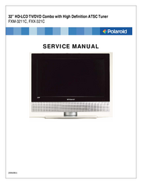 Manual de servicio Polaroid FXM-3211C