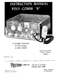 User Manual with schematics Polytronics Poly-Comm 6
