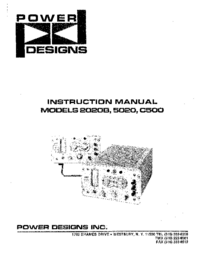 Service and User Manual Power_Designs 5020