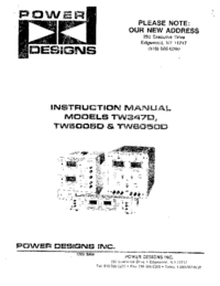 Servicio y Manual del usuario Power_Designs TW347D