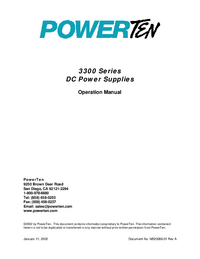 User Manual Powerten 3300 Series