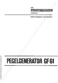 User Manual Pracitronic GF 61