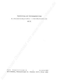 Service and User Manual Pracitronic GF 70