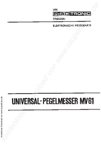 Manual del usuario Pracitronic MV 61