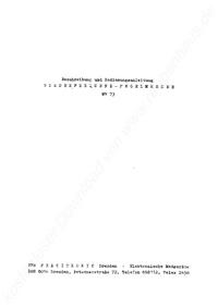 Bedienungsanleitung Pracitronic MV 73