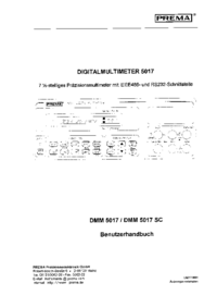 User Manual Prema DMM 5017