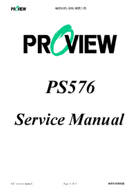 Servicehandboek Proview PS576