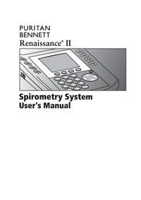 Manuale d'uso PuritanBennett Renaissance II