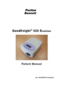 Bedienungsanleitung PuritanBennett GoodKnight® 420 Evolution