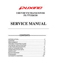 Manual de servicio Puxing PX-338
