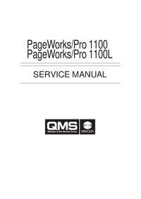 Service Manual QMS PageWorks/Pro 1100