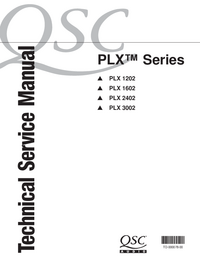 Service Manual QSC PLX 1202