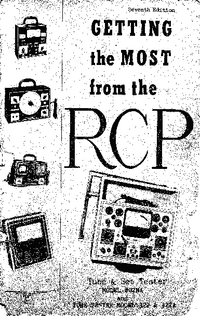 Service and User Manual RCP 322