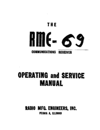 Servicio y Manual del usuario RME RME-69