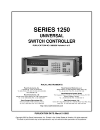 Manuale d'uso Racal SERIES 1250