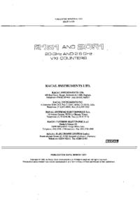 Serviceanleitung Racal 2151