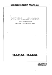Service and User Manual Racal 9081