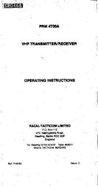 Racal-7290-Manual-Page-1-Picture