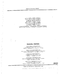 Servicio y Manual del usuario Racal 1996