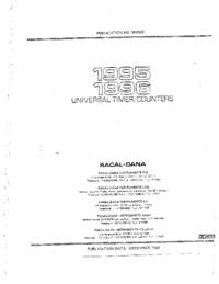 Обслуживание и Руководство пользователя Racal 1996