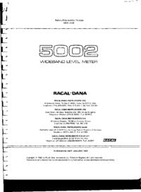manuel de réparation Racal 5002