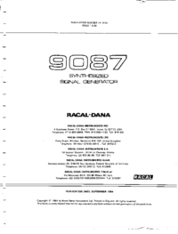 Servicio y Manual del usuario Racal 9087