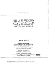 Servizio e manuale utente Racal_Dana 9478