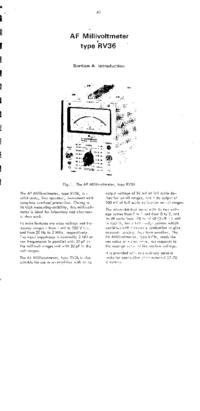 Service et Manuel de l'utilisateur Radiometer RV36