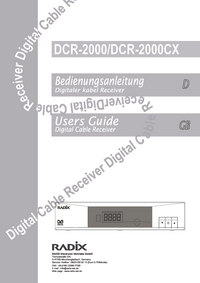 User Manual Radix DCR-2000
