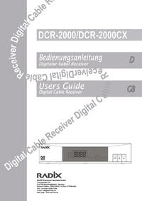 Instrukcja obsługi Radix DCR-2000