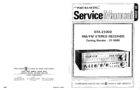 Service Manual Realistic STA-2100D