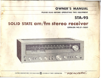 User Manual with schematics Realistic STA-95