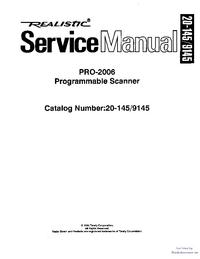Manual de serviço Realistic Pro-2006