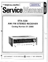 Manual de serviço Realistic STA-52B