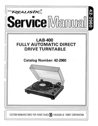Manual de servicio Realistic LAB-400