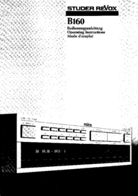 User Manual Revox B160