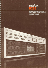 Revox-7306-Manual-Page-1-Picture