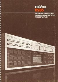 Manuale d'uso Revox B285