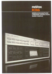 Manual del usuario Revox B286