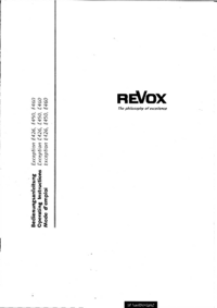Manual do Usuário Revox Exception E460