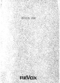 Manual do Usuário Revox H60