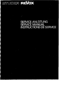 Manual de serviço Revox A700