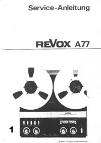 Service Manual Revox A77